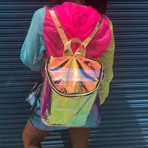 Holographic book bag